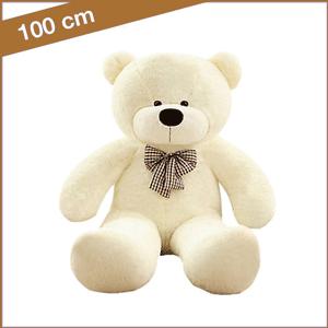 Witte knuffelbeer 100 cm