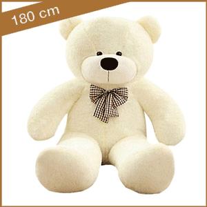 Witte knuffelbeer 180 cm