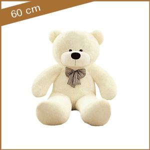 Witte knuffelbeer 60 cm